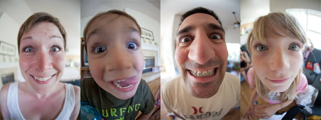 portraits with a fisheye lens