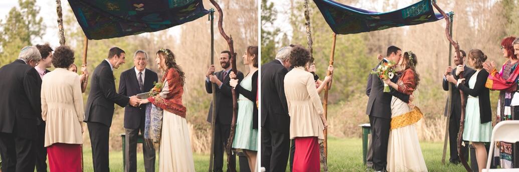 Nevada City Wedding Photographer First Kiss