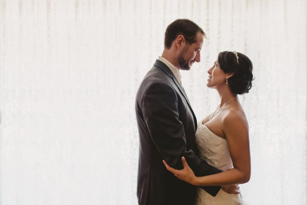 romantic bride and groom portrait tahoe