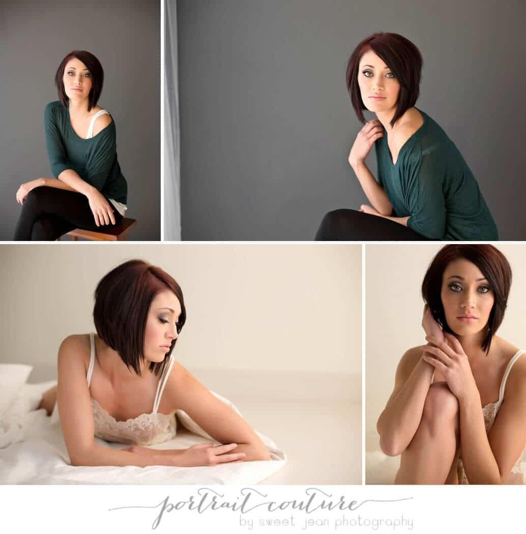Beauty portrait brunette, short hair, Sacramento Glamour Photographer