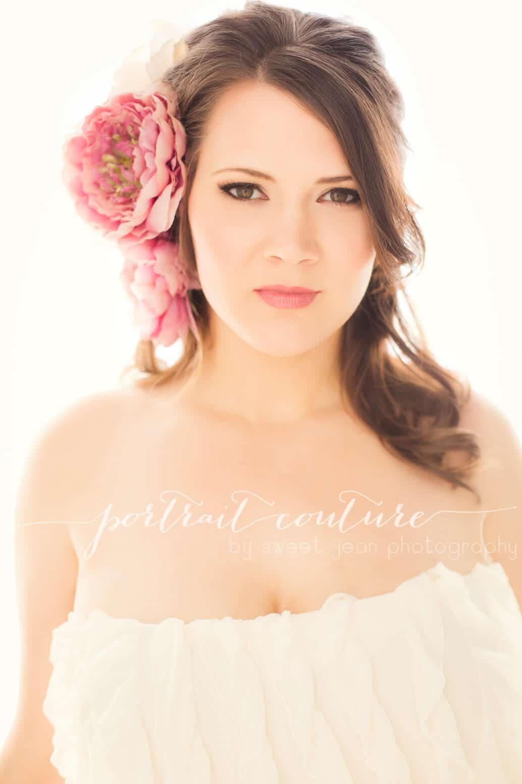 stunning backlit glamour portrait