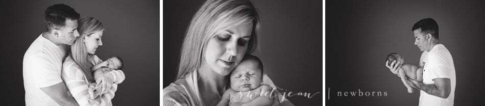 Roseville Photography Studio Newborn with parents