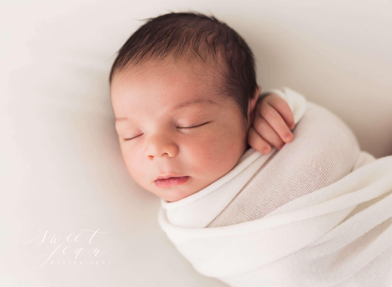 Sacramento Newborn Photographer Sweet Jean Photography Swaddled Baby