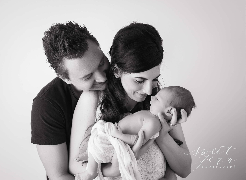 Sacramento Newborn Photographer Sweet Jean Photography Baby with parents