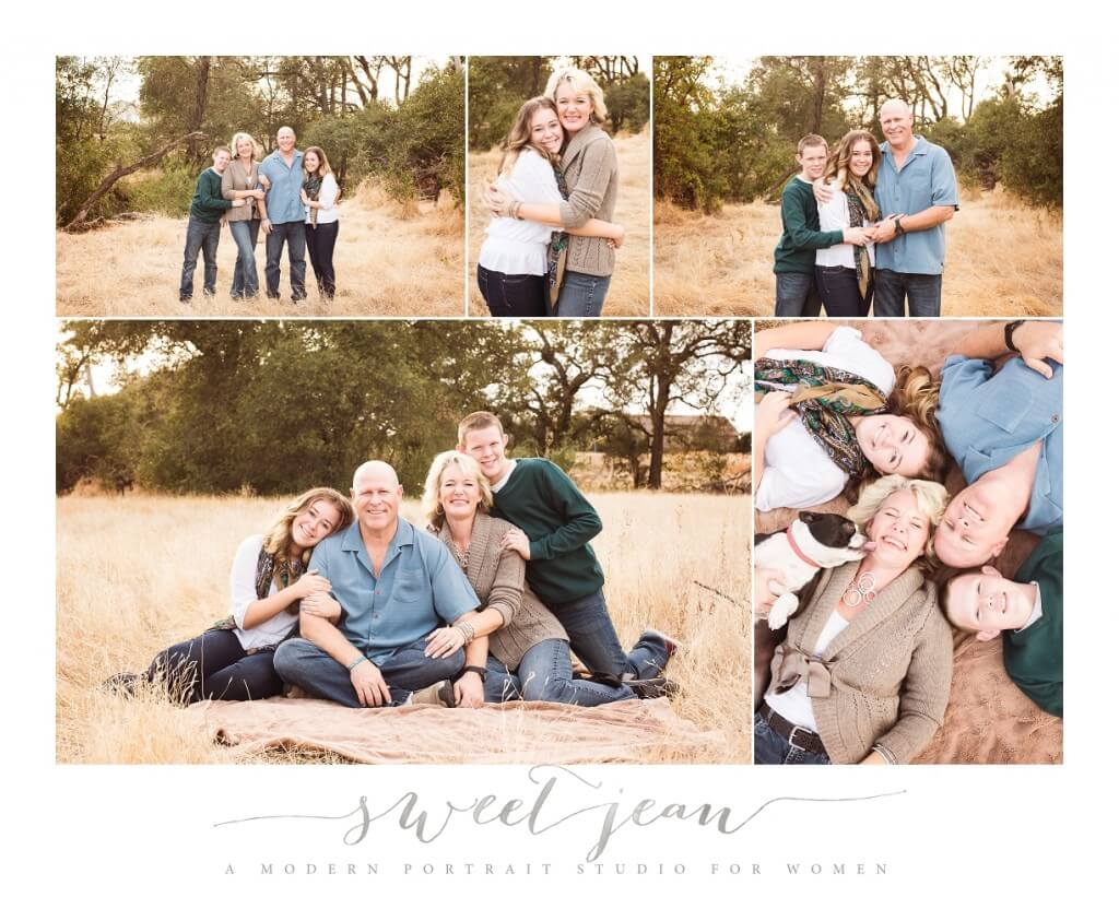 Roseville Family Photographer Sweet Jean Photography Collage