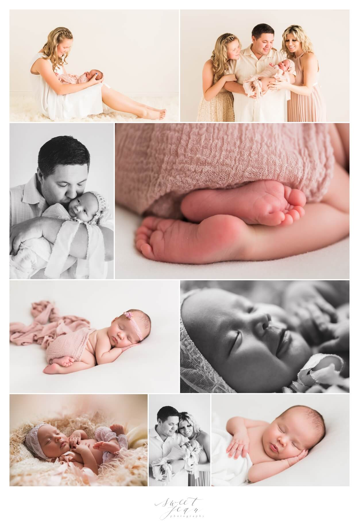 roseville newborn girl portraits